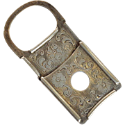 "Antique Cigar Cutter 2"" Sterling 1910"