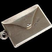 Antique Envelope Stamp Box English Sterling