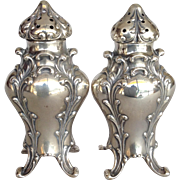 Art Nouveau Salt and Pepper Sterling Simons Brothers