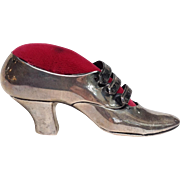 Ladies Shoe Pin Cushion Sterling Mauser c. 1880-90