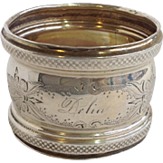 Sterling Napkin Ring 'Dolin From Mother Maxcy' Circa 1900
