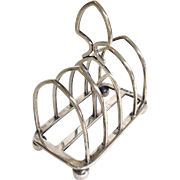 English Toast Rack Sterling Circa Late 1800's by Francis Boone Thomas