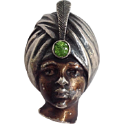 Turban Portrait Pin English Sterling