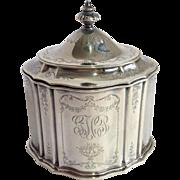 Tea Caddy Gorham Sterling Circa 1897