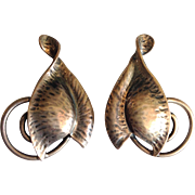 Danecraft Leaf Earrings Sterling