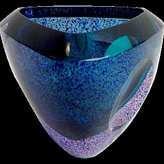 Orrefors Erika Lagerbielke Vase Signed Circa 1997 1997 Expo