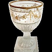 English Gilt Stem 18th Century Glass