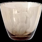 Vintage Art Deco Nude Figural Vase Kumela Riihimaki