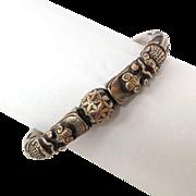 Chinese Dragon Silver Bangle Bracelet