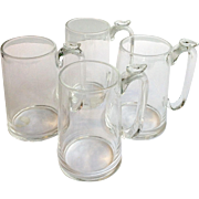 Four Steuben Beer Mugs