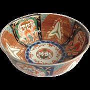 """Antique Imari Bowl 9.5"""""""