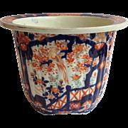 Large Imari Cachepot Japanese Meiji Period