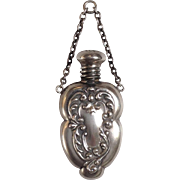 Perfume Pendant Sterling Victorian for Chatelaine