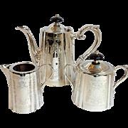 Barker Ellis Silver Tea Set Three Piece