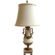 Bronze Ormolu and Marble Lamp Antique