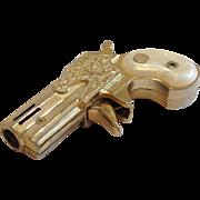 Vintage Deringer Modern Angel Mascot Butane Pistol Lighter