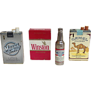 Group of 4 Vintage Advertising Butane Lighters