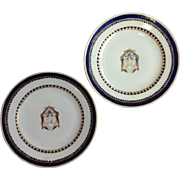 Pair of Armorial Chinese Export Plates