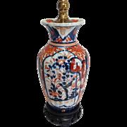 Small Imari Lamp Late 1800's