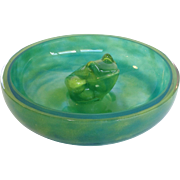 Large Daum Nancy Frog Art Glass Bowl