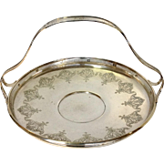Large Sterling Handled Basket Towle Early 1900's