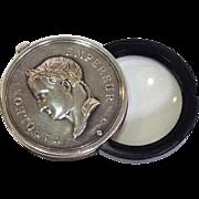 Rare Christofle Silverplate Napoleon Empereur Magnifier