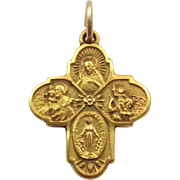 Small Cross Pendant 10 Karat Catholic
