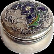 Gorham Enameled Violets All Sterling Box Circa 1897