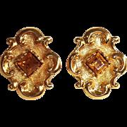 LaCroix Amber Stone Earrings