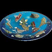 Flo Ulrich Becker Water Carrying Pebbles Bowl Blue
