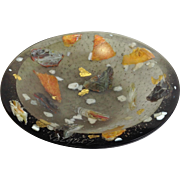 "Flo Ulrich Becker Water Carrying Pebbles 5"" Bowl Grey"