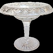 Stuart Cut Glass Compote English 20th Century