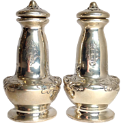"Art Nouveau Sterling Gorham Floral 4"" Salt And Pepper Shakers"