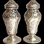 Art Nouveau Iris Kerr Sterling Salt And Peppers Circa 1880's