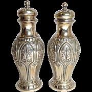 Arabesque Sterling Salt And Pepper Dominic & Hoff 19th Century
