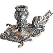 Cherub and Dolphin Sterling Chamberstick