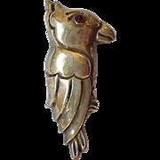"Mexico Silver Parrot Pin 3 3/8"" 1940's"