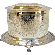 Fern Biscuit Box English Silverplate