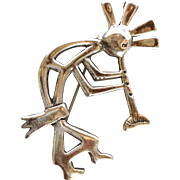 Kokopelli Man Flute Player Sterling Pin