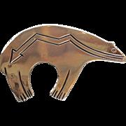 Sterling Navajo Bear Pin Native American