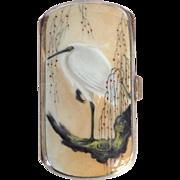 Art Nouveau Guilloche Enamel Japanesque Cigarette Case