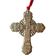 Towle Cross Ornament Sterling 2001
