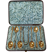 Boxed Apostle Demitasse Sterling Coffee Set by Martin Hall & Co.