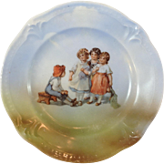 German Transferware Childs Plate