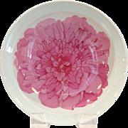 Pivoine De Chine De Canovas by Chas Field Haviland Large Pink Flower Bowl