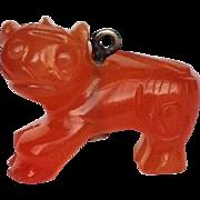 Carnelian Foo Dog Charm Small 19 mm