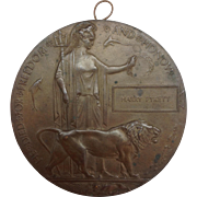 Bronze Dead Man's Penny Commemorative Medal Harry Pykett