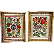 Pair Framed Watercolors 19th Century