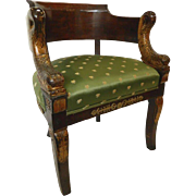 Dolphin Tub Chair 1st Empire Early 1800's