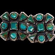 Turquoise Earrings Sterling Spirit Winds